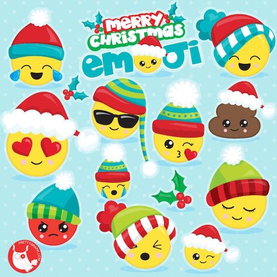 Christmas Emojis.Buy20get10 Christmas Emoji Clipart Commercial Use Emojis