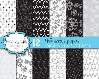80% OFF SALE wedding floral digital paper, commercial use, scrapbook papers, background  - PS624