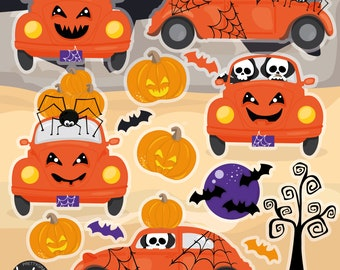 Halloween Beetles, clipart, commercial use,  vector graphics,  clip art, digital images - CL1383