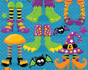 BUY 20 GET 10 OFF Halloween Feet clipart commercial use, vector graphics, digital clip art, digital images - CL699