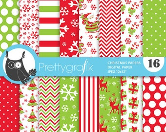 80% 0FF SALE Christmas digital paper, classic christmas papers commercial use, scrapbook papers, scrapbooking papers - PS771