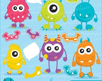 BUY 20 GET 10 OFF monster fun clipart commercial use, vector graphics, digital clip art, digital images - CL654