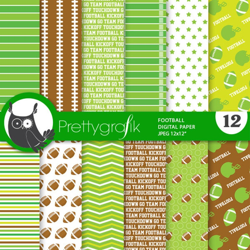 BUY20GET10 - Football digital paper, commercial use, scrapbook papers,  background, sports - PS869