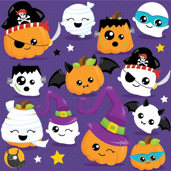 Buy 20 Get 10 Off Halloween Clipart Commercial Use Pumpkin Clipart Vector Graphics Ghost Digital Clip Art Jack O Lantern Cl1017 By Prettygrafik Design Catch My Party