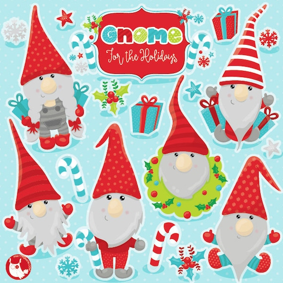 Christmas Gnomes Clipart.Buy20get10 Christmas Gnomes Clipart Commercial Use Vector Graphics Digital Clip Art Digital Images Cl1039