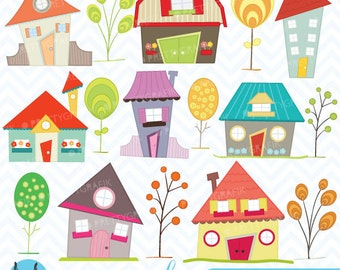 BUY 20 GET 10 OFF House clipart commercial use, vector graphics, digital clip art, digital images - CL397