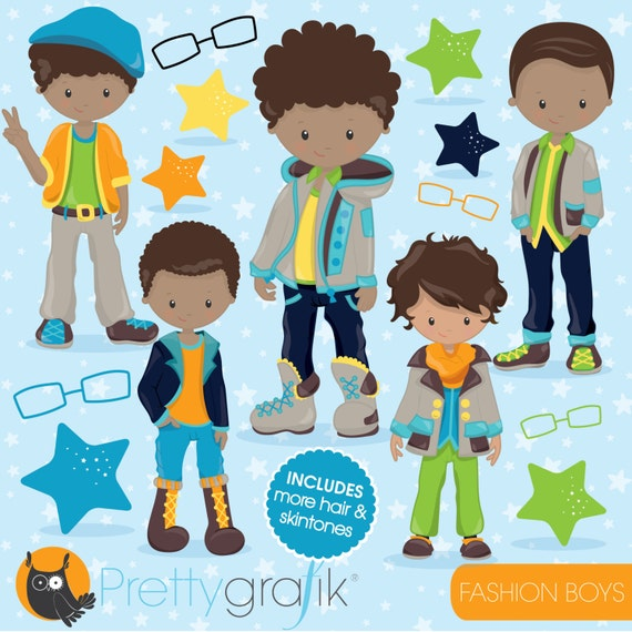 fashion boys clipart commercial use kid clipart vector etsy rh etsy com New Baby Boy Clip Art boy clipart