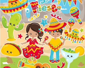 80% OFF SALE Cinco de Mayo clipart, Mexican Fiesta commercial use, vector graphics, digital clip art, digital images, wild west - CL1160