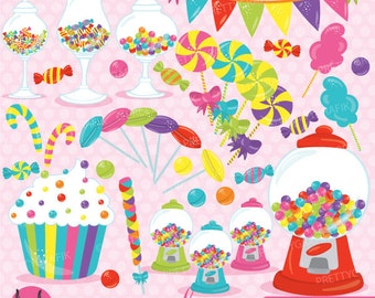 BUY 20 GET 10 OFF Candy clipart commercial use, candy land vector graphics, digital clip art, digital images - CL707
