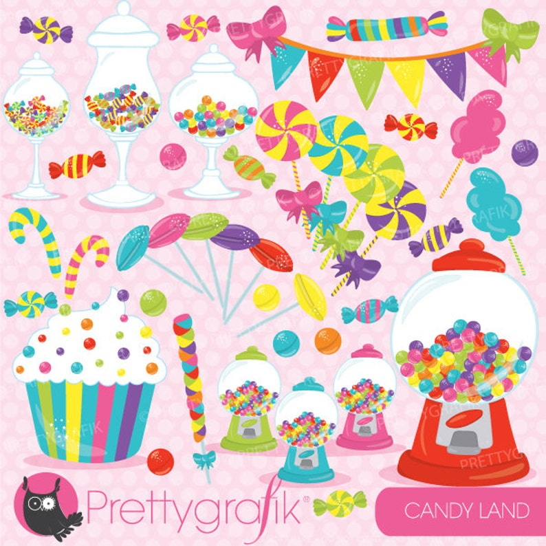 BUY 20 GET 10 OFF Candy clipart commercial use candy land image 0