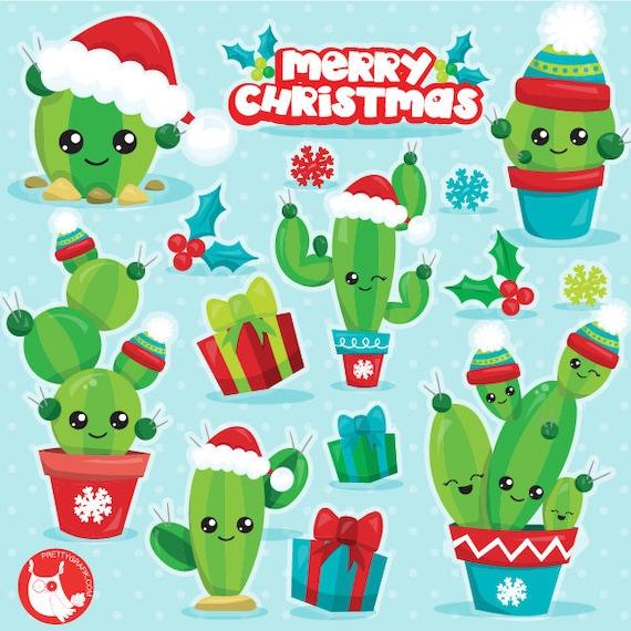 Christmas Cactus Clipart.Buy20get10 Christmas Cactus Clipart Commercial Use Christmas Clipart Vector Graphics Cactus Digital Clip Art Christmas Images Cl1115