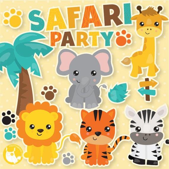 Safari graphics Safari clipart Safari party images Safari girl commercial use