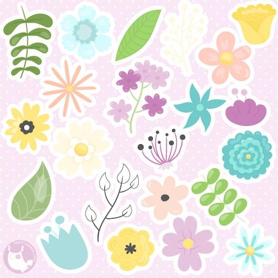 BUY 20 GET 10 OFF Flower clipart commercial use CL316 vector graphics digital images digital clip art