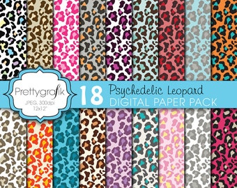 BUY 20 GET 10 OFF - leopard animal print digital paper, commercial use, scrapbook papers, background  - PS615