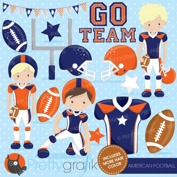 Buy20get10 American Football Clipart Commercial Use