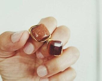 Mocha Shimmer Ring