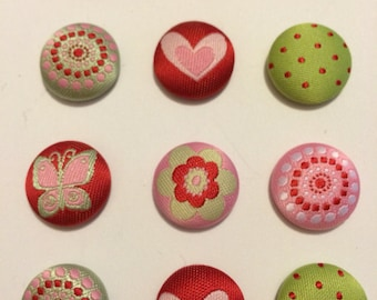 Hearts & Flowers Valentine Magnets