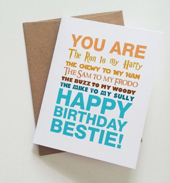 Genoeg Geeky beste vriend verjaardagskaart / / Harry Potter / / Star | Etsy &IV06