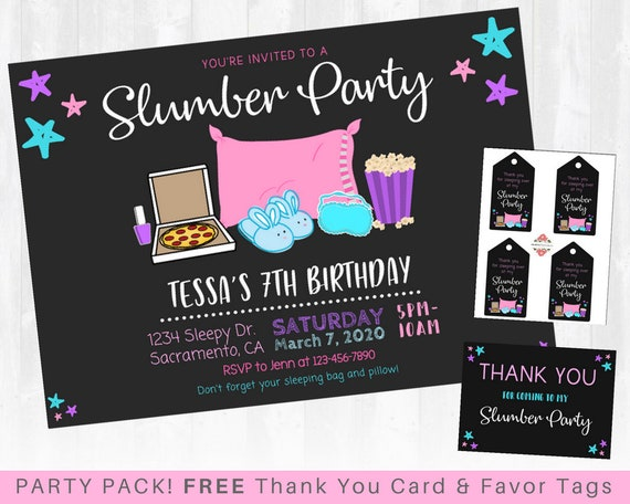 This is a photo of Printable Sleepover Invitations with 13th birthday