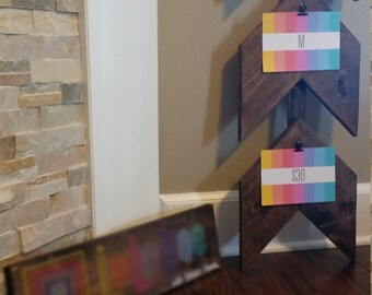 5-7 Day Turnaround - Stained Consultant sign w/ Chevron Arrows - Hang size, style, & price tags - Pallet Art - Reduced Cost
