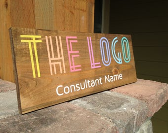 """5-7 Day Turnaround - Customizable Consultant Sign - 6"""" and 8"""" option available - Pallet Art - Wood Sign"""
