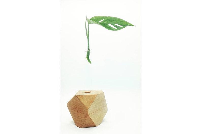 Geometric candle holder wood candle holder geometric vase image 0