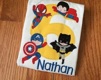 Superhero Birthday Shirt, Superhero birthday party, Superheroes