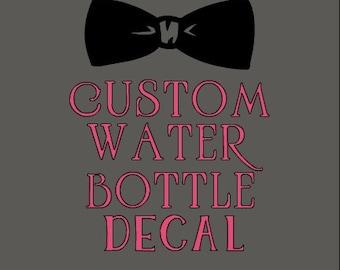 Custom Water Bottle Decal