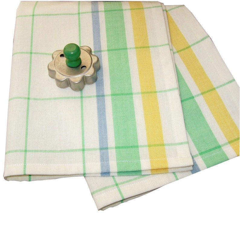55d5a2b46b9f Vintage Style Dish Towel Striped Tea Towel Retro Hand Towel
