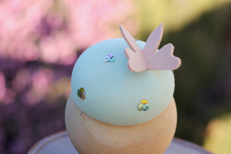 Church Hat Girls Fancy Wedding Hat British Hat Toddler Tea Party Pink Girls Fascinator with Butterfly