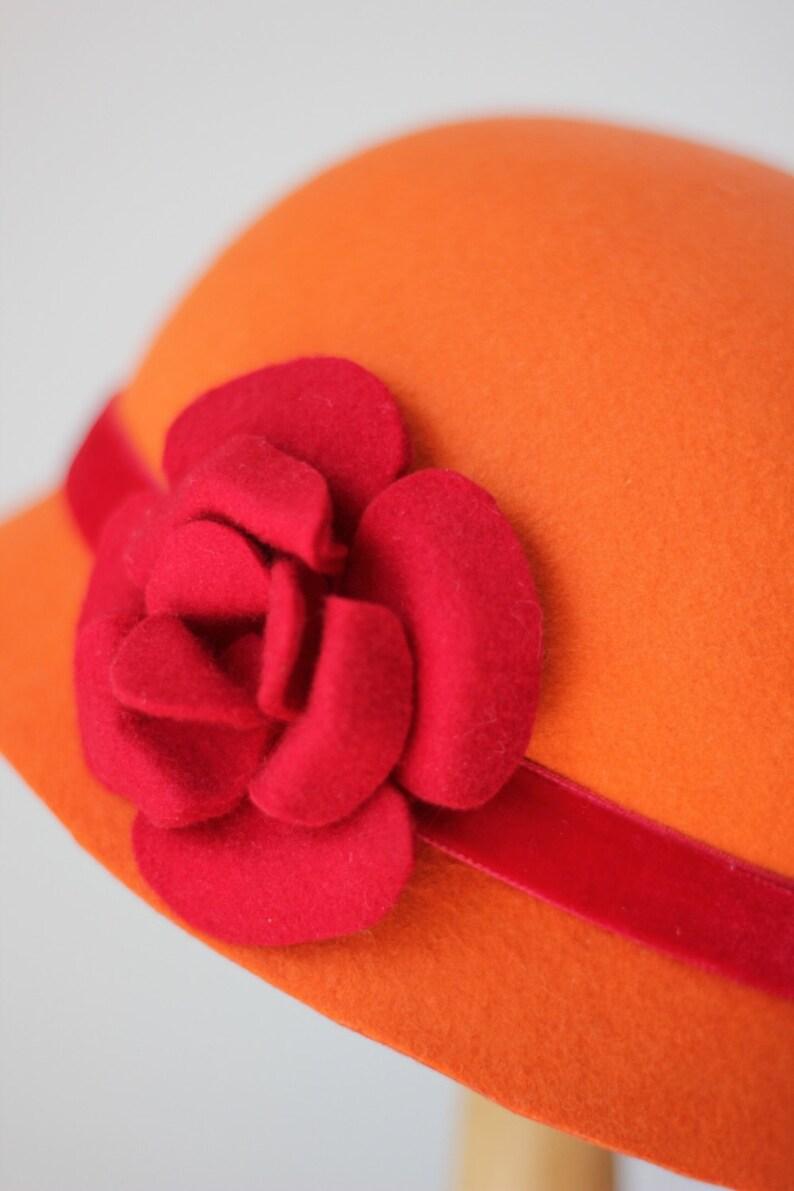 bbdc52657c05b Orange Winter Hat for Girls Custom Made Fashion Hats Toddler