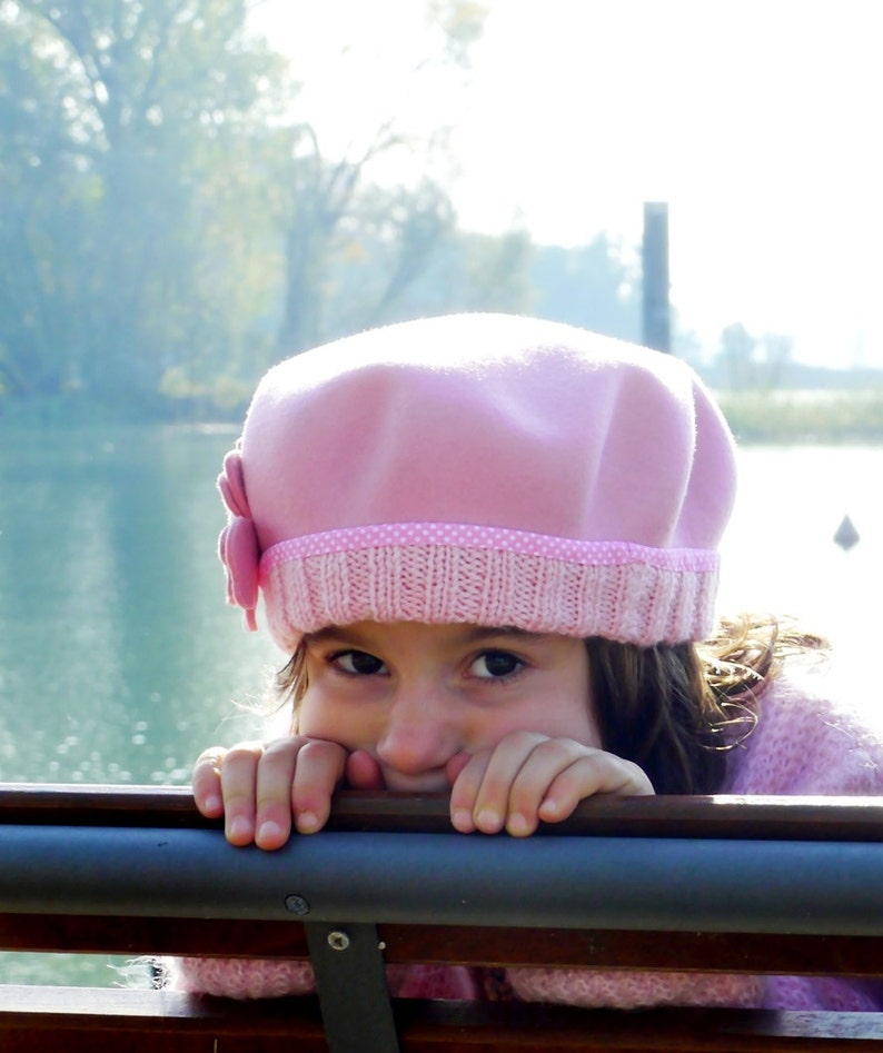 b0dc5cce97dbf Baby girl beret hat little girls french beret toddler winter