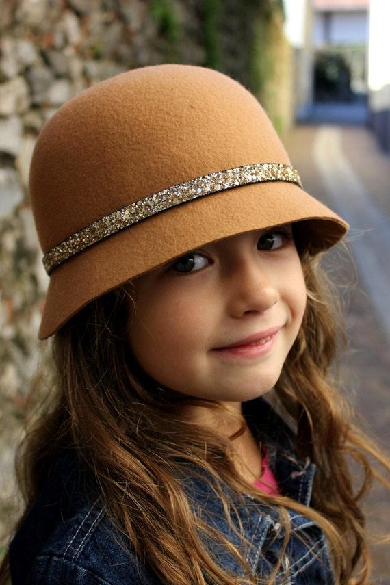 Little girls winter hats camel brown baby girl hat children  a8f900d39d8