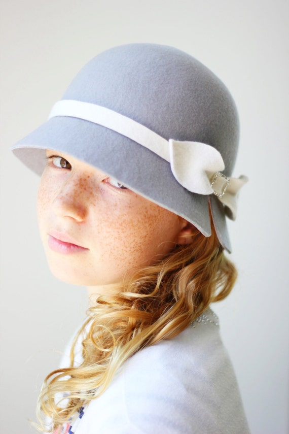 una grande varietà di modelli ufficiale prezzo limitato Cappello invernale per bambina grigio, cappello cloche per bimba