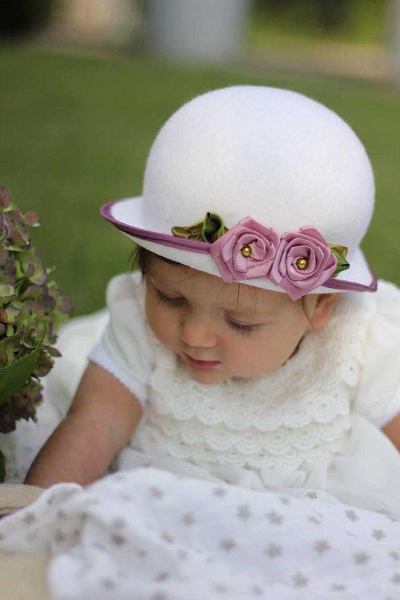 14968ab4913 Baby Girl Bonnet Little Girls Fancy Hats Ivory Baby Girl