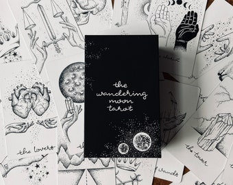 The Wandering Moon Tarot Deck - Divination Tools - Tarot Card  - Witchy Decor - Metaphysical - Altar -