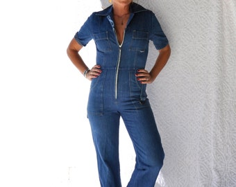 f908046996f1 1960s Denim Coveralls w. Zipper