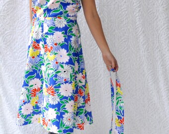019576bdbe5 Kelly Arden 70s Maxi Dress Floral Hippie Sundress 70s Mod