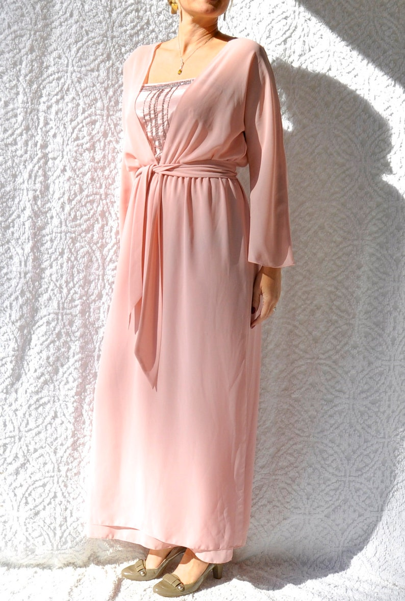 0491194198b84 Vintage Neiman Marcus Evening Gown 70s Formal Dress. 1970s