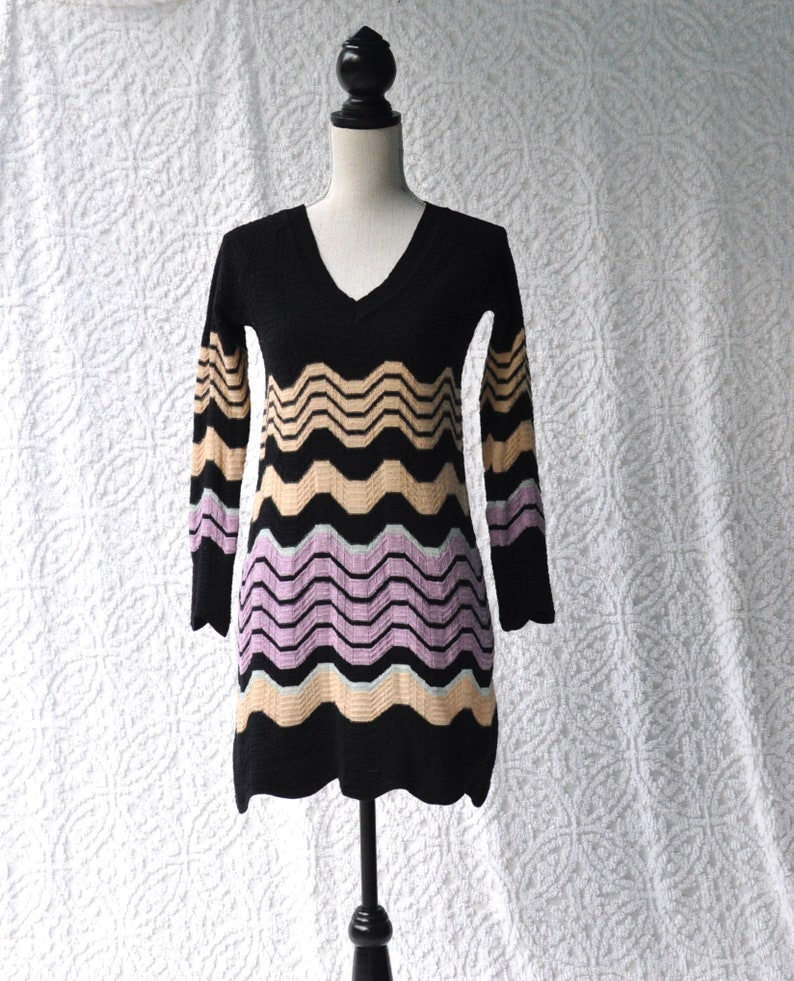 6cf5025bede Missoni Made in Italy Tunic Sweater Dress Knit Missoni Mini