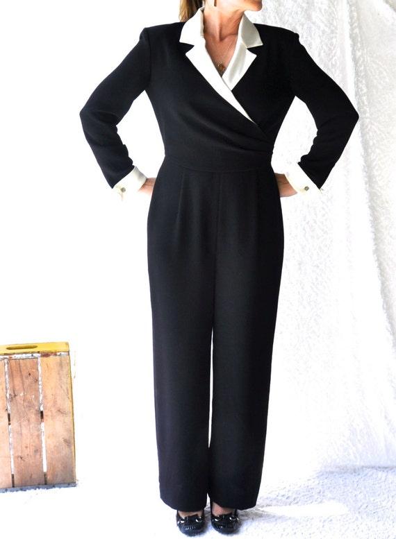 1980s Jumpsuit Alternative Lbd Cocktail Party Pant Suit Etsy
