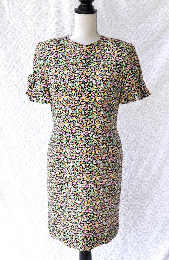 Designer Vintage Carolina Herrera Dress | Silk Flo
