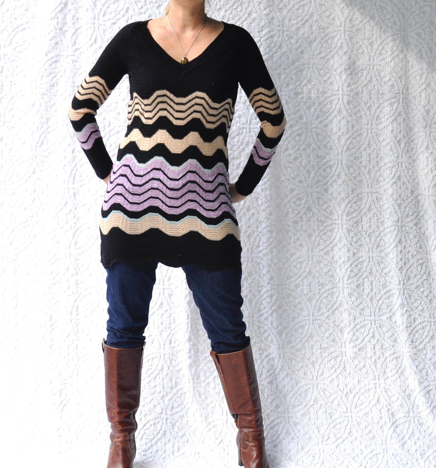 acc24dbfb10 Missoni Made in Italy Tunic Sweater Dress Knit Missoni Mini