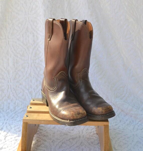 HippieRockabilly de femmes homme9 des de bottes 70 5 années bottes7 Boho bottes pour bottesBottes cuir travail marron de WesternBottes tsrChdBQx