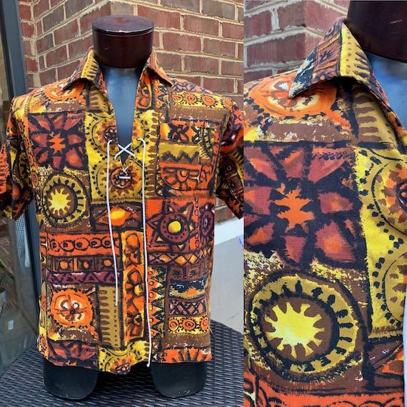 1950s Sin Sing Tahiti Cotton Shirt | 1950s Mens Ha