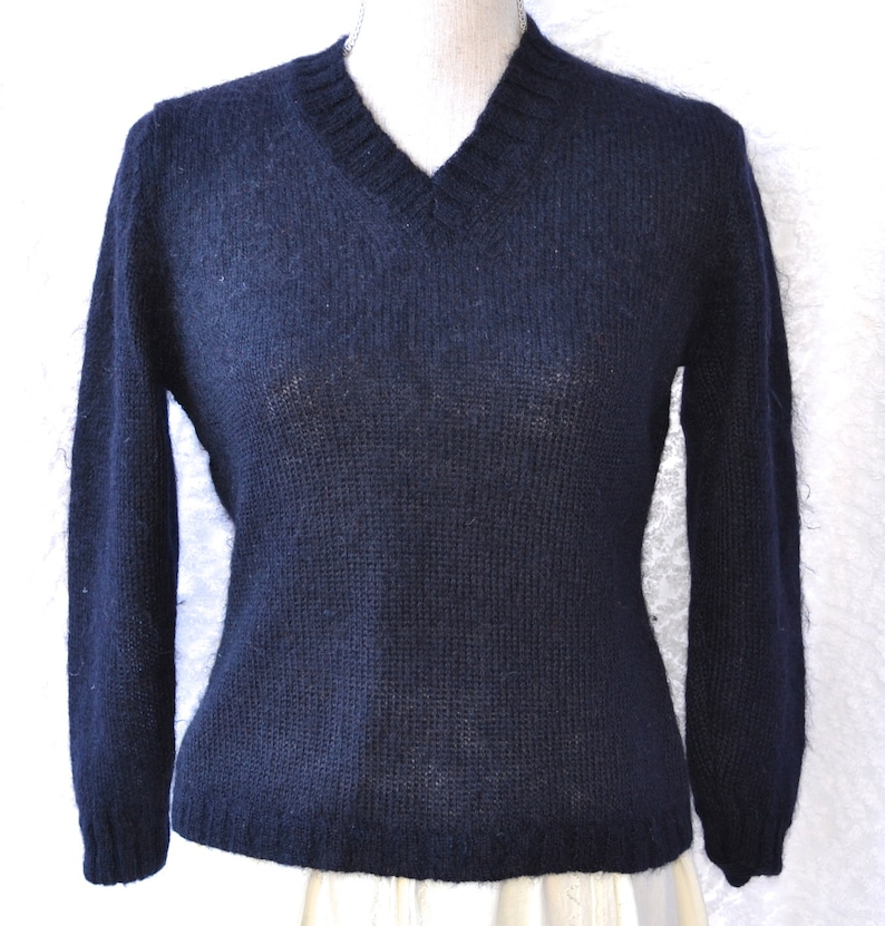 fb292dc593068 Vintage Designer Sweater. Blue Eagle Les Copains Sweater