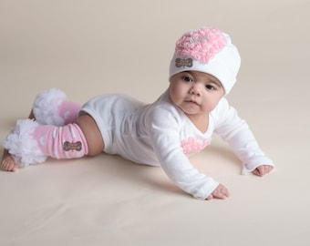 BOUTIQUE STYLE-Baby Girl Clothing set-Newborn Photo Prop-Heart-Couture-Take  me home-clothing set-Baby Girl clothing-leg warmer set-hat 6c4b5c957