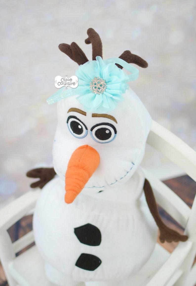 AQUA HEADBAND-Snowflake-Glitter-Aqua-Boutique Style-Chiffon Flower Elastic Headband-Infant Headband Set-Newborn Headband-Baby Band-Chiffon