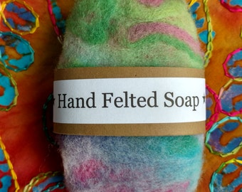 Felted soap, one bar, hand felted soap, Oregon, Pacific Northwest