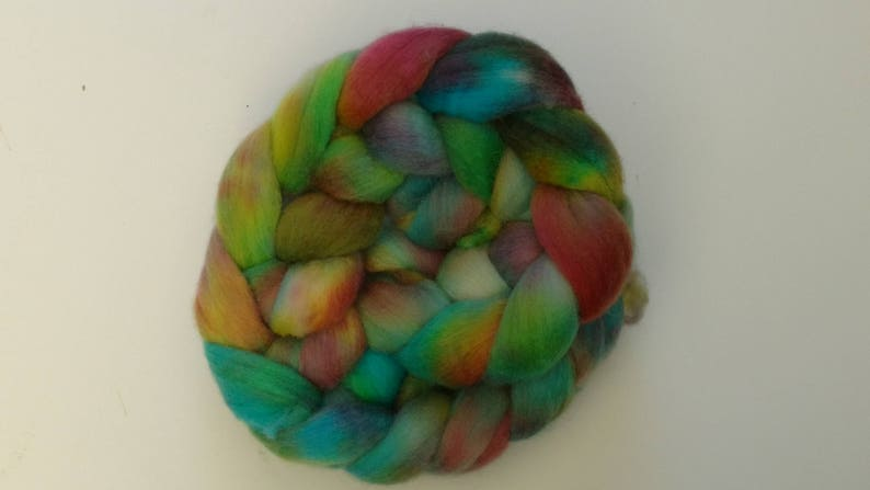 hand painted gypsy soul Wool roving for spinningfelting corridale wool